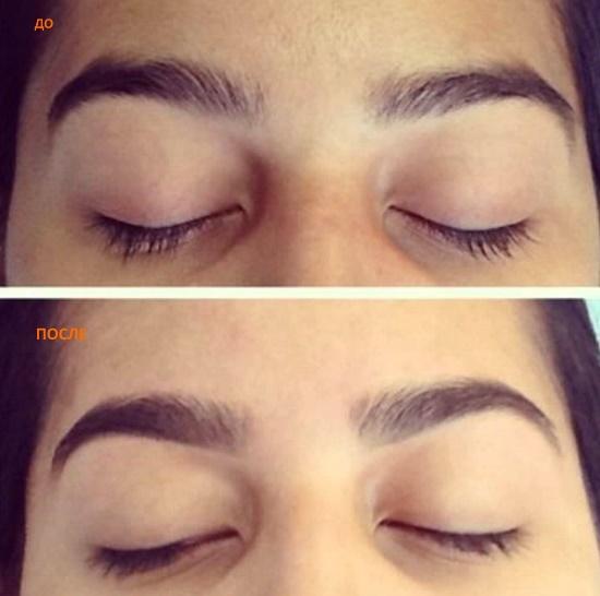 покраска и коррекция бровей до и после фото
