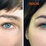 коррекция бровей до и после фото 6