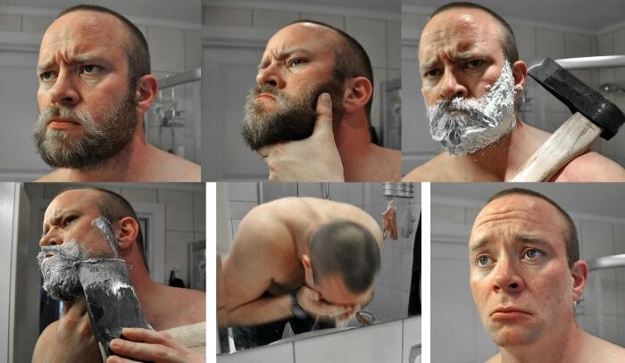 как брить бороду правильно