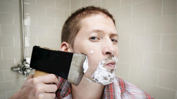 как бриться правильно станком